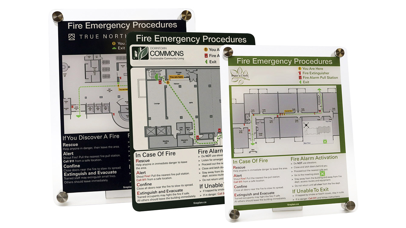 Emergency Procedure Signage